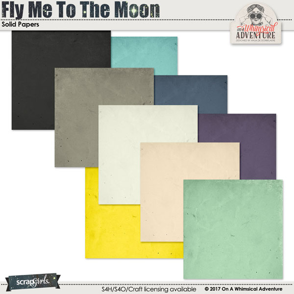 Fly Me To The Moon Solid Papers