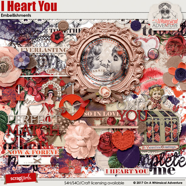 I Heart You Embellishments by On A Whimsical Adventure