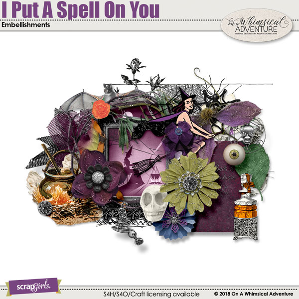 I Put A Spell On You Embellishments by On A Whimsical Adventure