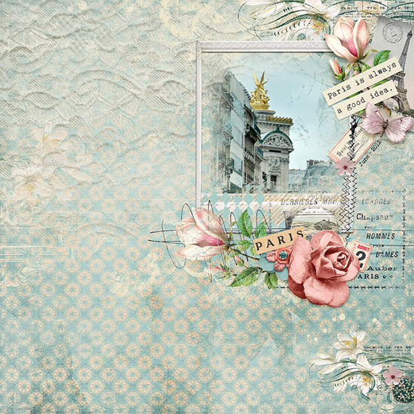 Digital layout using I Will Meet You In Paris by On A Whimsical Adventure