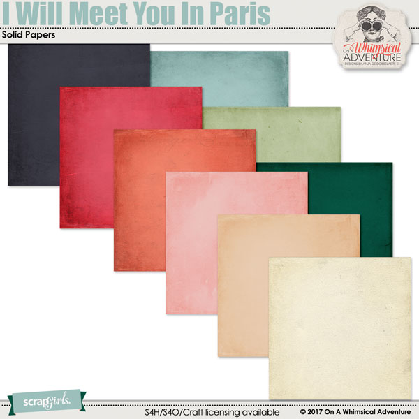 I Will Meet You In Paris Solid Papers by On A Whimsical Adventure