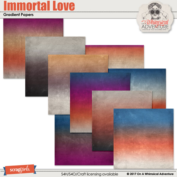 Immortal Love Gradient Papers by On A Whimsical Adventure