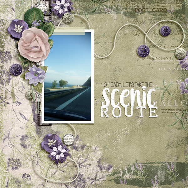 Digital layout using Wanderlust by On A Whimsical Adventure