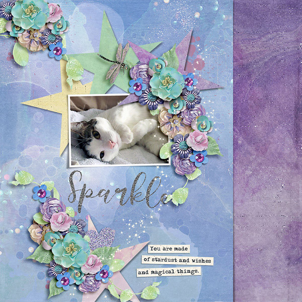 Digital layout using Find Your Inner Sparkle by On A Whimsical Adventure