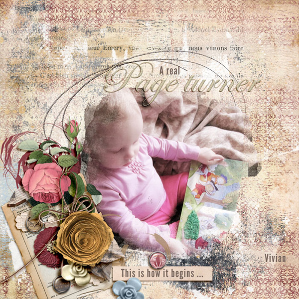 Digital layout using Ex Libris by On A Whimsical Adventure