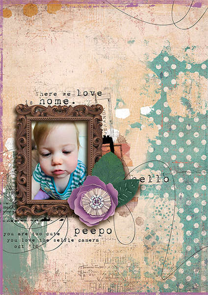 Digital layout using Home Sweet Home by On A Whimsical Adventure
