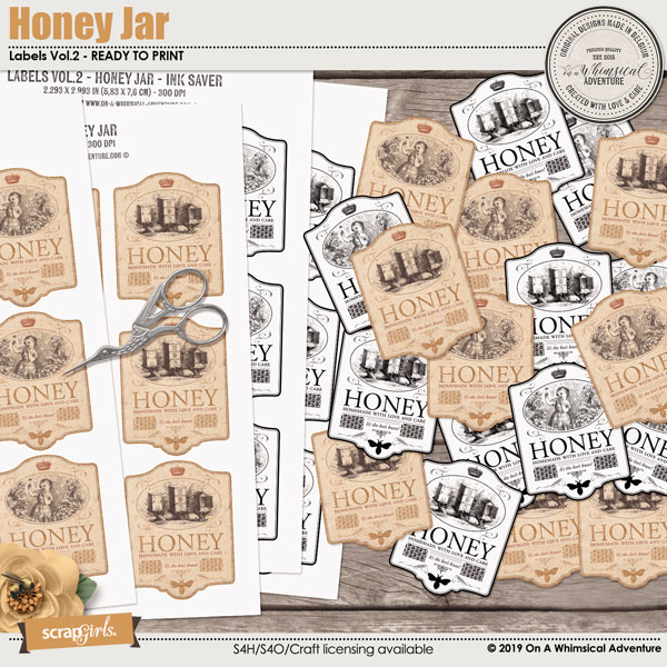 Honey Jar Label by On A Whimsical Adventure