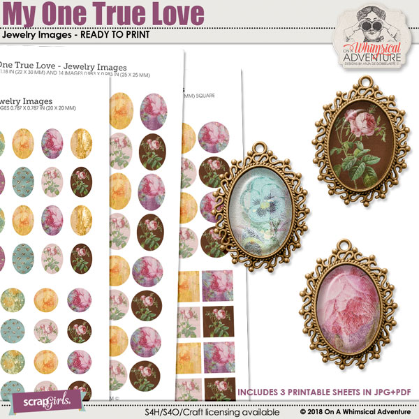 My One True Love Jewelry Images by On A Whimsical Adventure