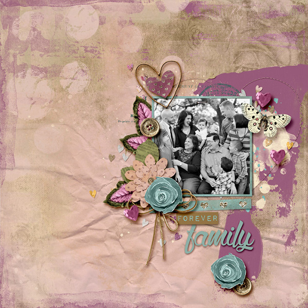 Digital layout using Value Pack: My One True Love by On A Whimsical Adventure
