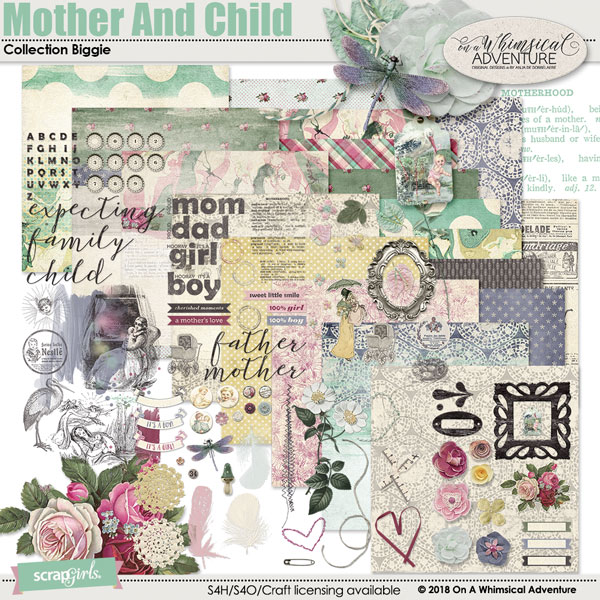 Mother And Child Collection Biggie by On A Whimsical Adventure