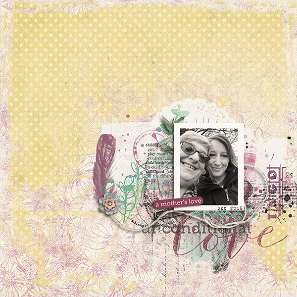 Digital layout using Mother And Child Value Pack by On A Whimsical Adventure