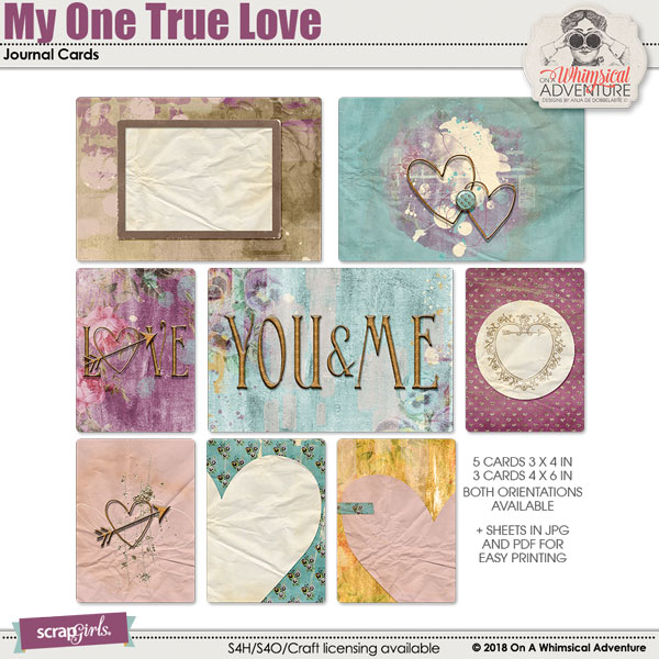 My One True Love Journal Cards by On A Whimsical Adventure