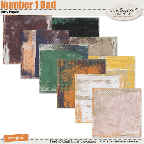 Number 1 Dad Artsy Papers by On A Whimsical Adventure