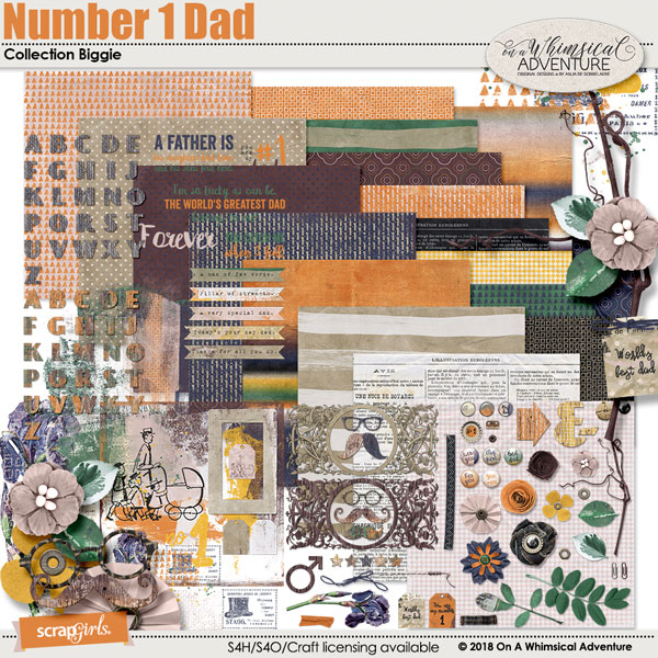 Number 1 Dad Collection Biggie by On A Whimsical Adventure