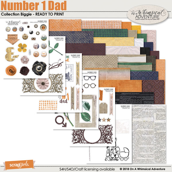 Number 1 Dad Printable Collection Biggie by On A Whimsical Adventure