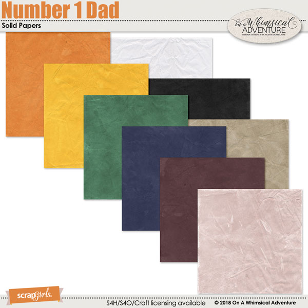 Number 1 Dad Solid Papers by On A Whimsical Adventure