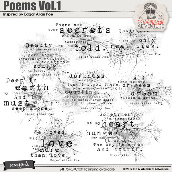 Poems Vol1 Inspired by Edgar Allan Poe by On A Whimsical Adventure