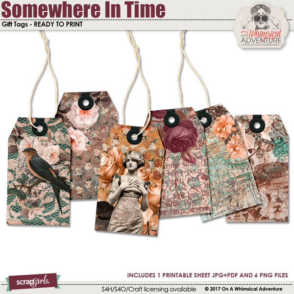 Somewhere In Time Gift Tags by On A Whimsical Adventure