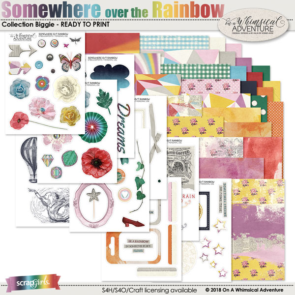 Somewhere Over The Rainbow Printable Collection Biggie by On A Whimsical Adventure