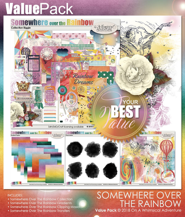 Value Pack Somewhere Over The Rainbow by On A Whimsical Adventure