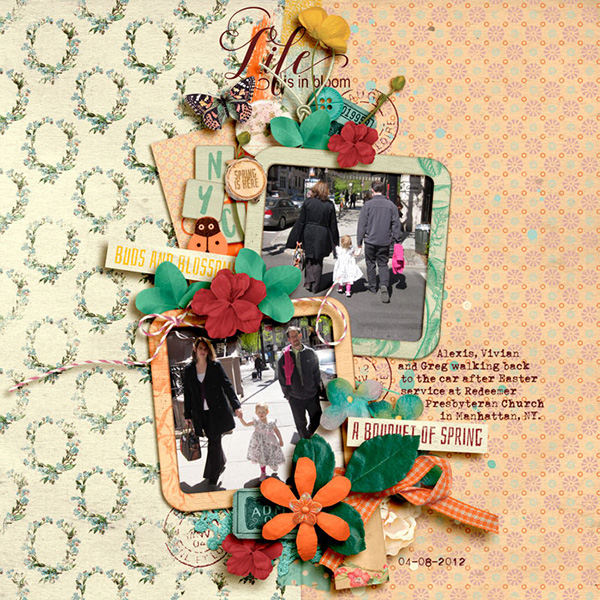 Digital layout using Value Pack Spring Fever by On A Whimsical Adventure