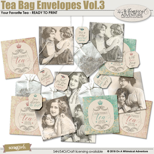 Tea Bag Envelopes Vol3 by On A Whimsical Adventure