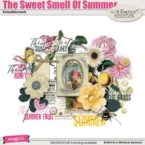 The Sweet Smell Of Summer Embellishments by On A Whimsical Adventure