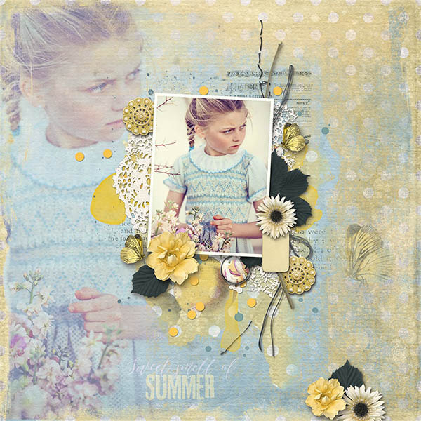 Digital layout using Value Pack The Sweet Smell Of Summer by On A Whimsical Adventure