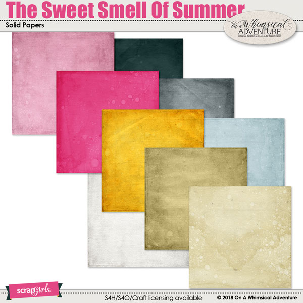 The Sweet Smell Of Summer Solid Papers by On A Whimsical Adventure