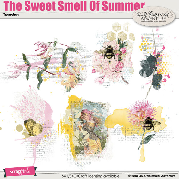 The Sweet Smell Of Summer Transfers by On A Whimsical Adventure