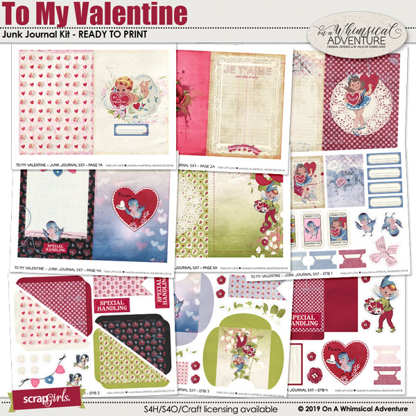 To My Valentine Junk Journal by On A Whimsical Adventure