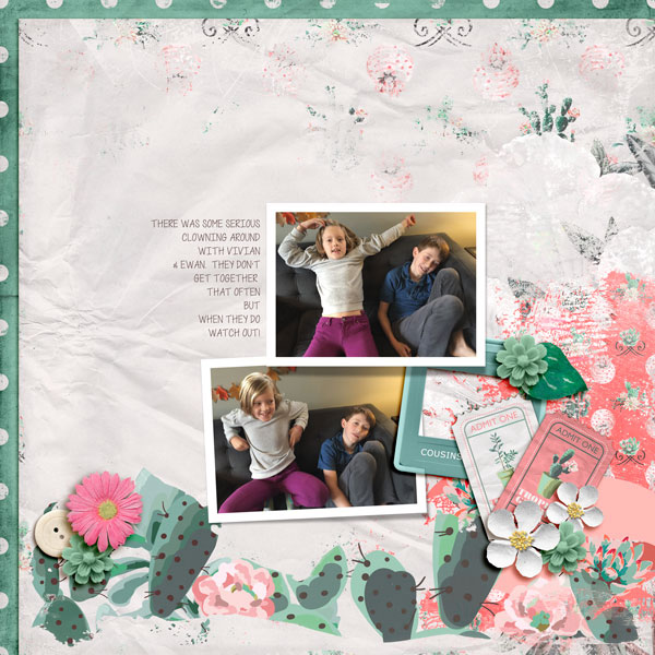 Digital layout using Value Pack Tropical Getaway by On A Whimsical Adventure