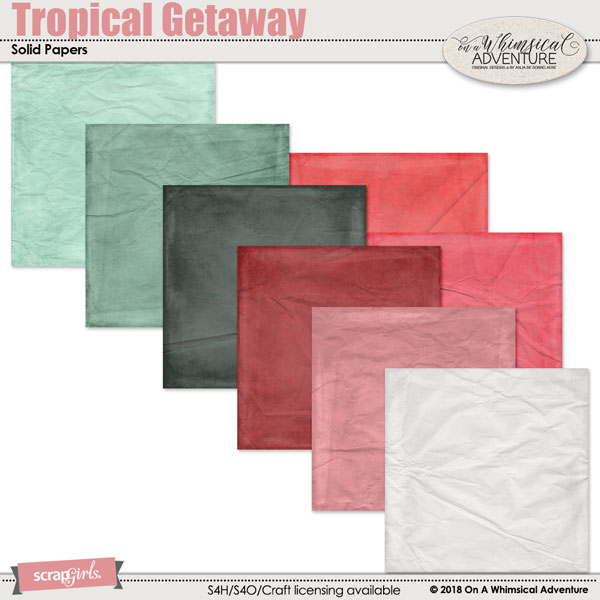 Tropical Getaway Solid Papers by On A Whimsical Adventure