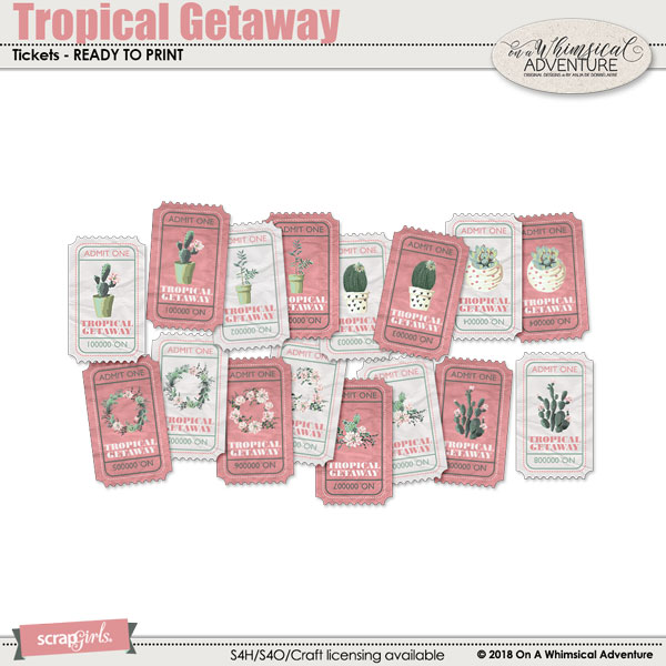 Tropical Getaway Tickets by On A Whimsical Adventure