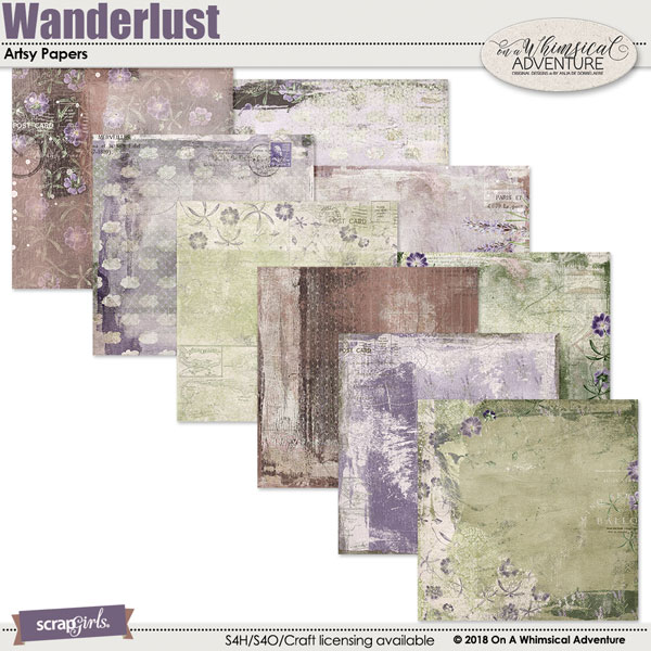 Wanderlust Artsy Papers by On A Whimsical Adventure