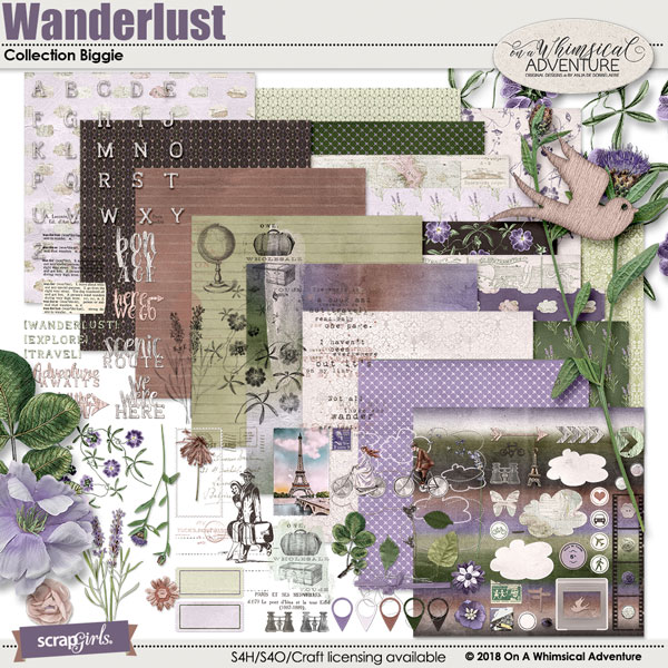 Wanderlust Collection Biggie by On A Whimsical Adventure