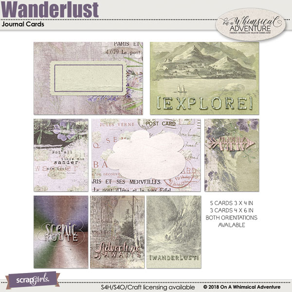 Wanderlust Journal Cards by On A Whimsical Adventure
