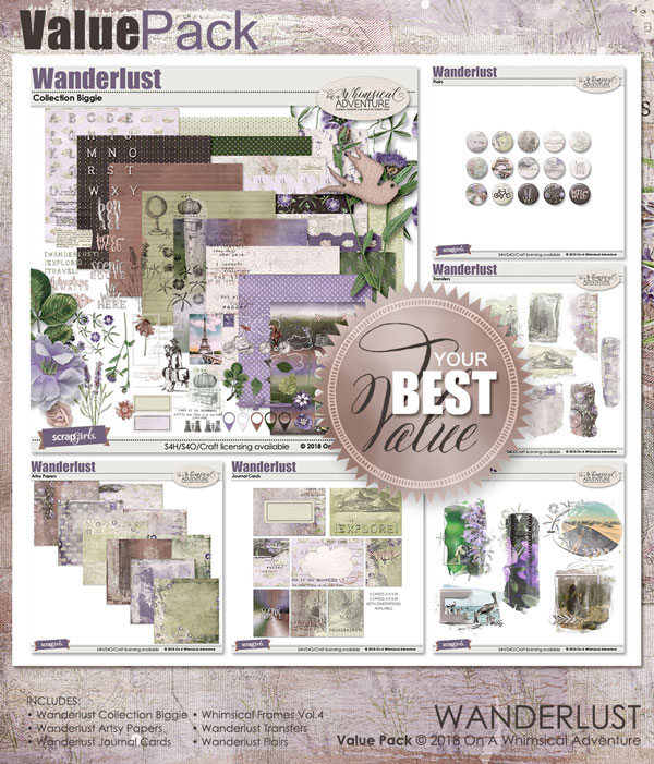 Value Pack Wanderlust by On A Whimsical Adventure
