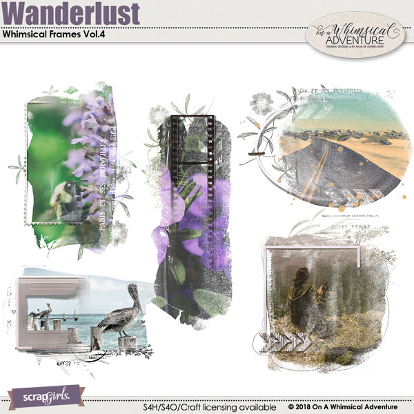 Whimsical Frames Vol4 Wanderlust by On A Whimsical Adventure
