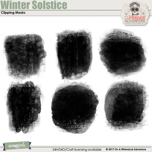 Winter Solstice Clipping Masks by On A Whimsical Adventure