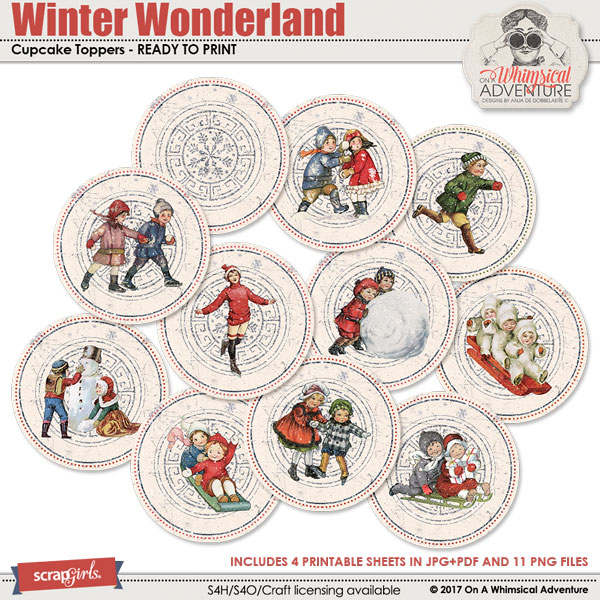 Winter Wonderland Cupcake Toppers by On A Whimsical Adventure