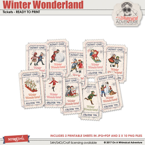 Winter Wonderland Tickets by On A Whimsical Adventure