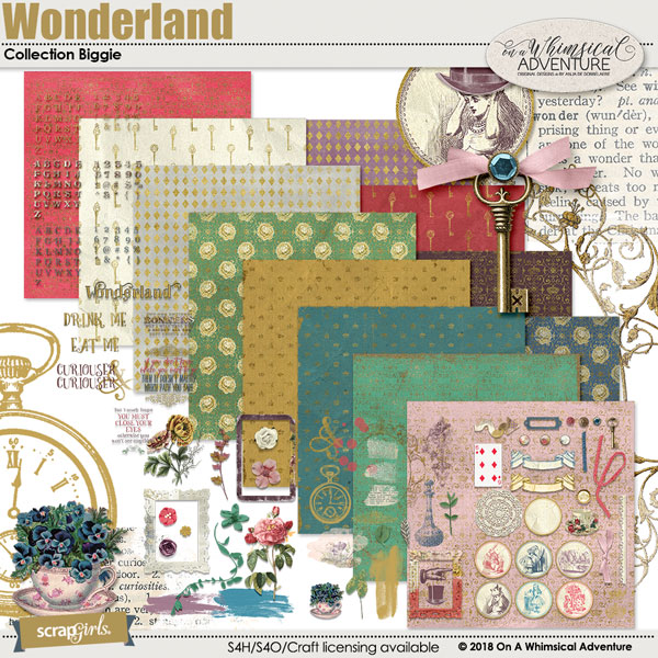 Wonderland Collection Biggie by On A Whimsical Adventure