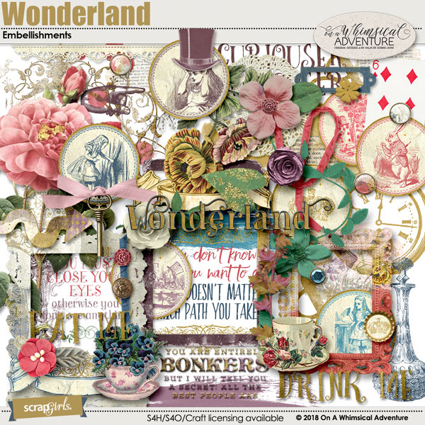 Wonderland Embellishments by On A Whimsical Adventure
