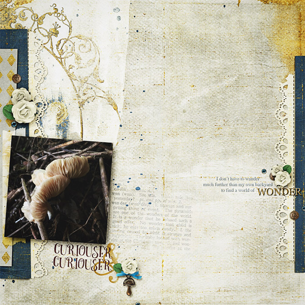 Digital layout using Value Pack Wonderland by On A Whimsical Adventure