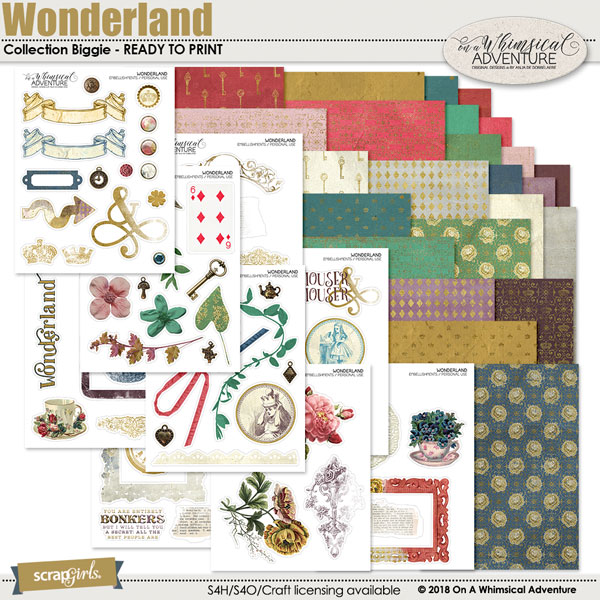 Wonderland Printable Collection Biggie by On A Whimsical Adventure