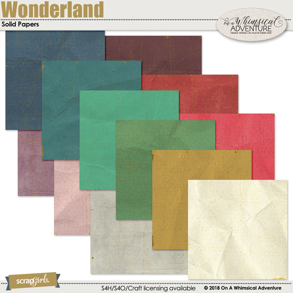 Wonderland Solid Papers by On A Whimsical Adventure