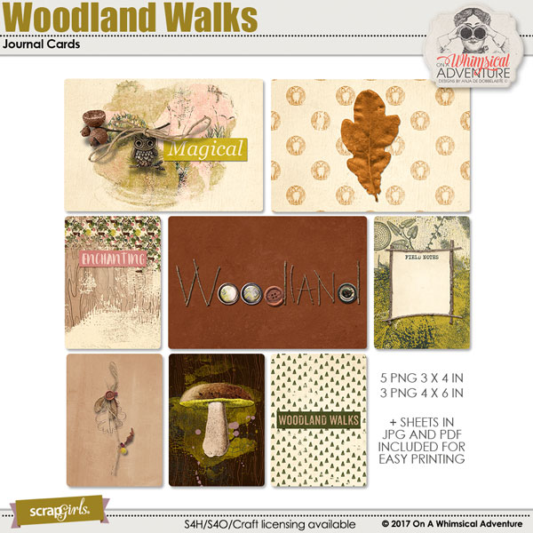 Pocket Life: Woodland Walks Journal Cards by On A Whimsical Adventure