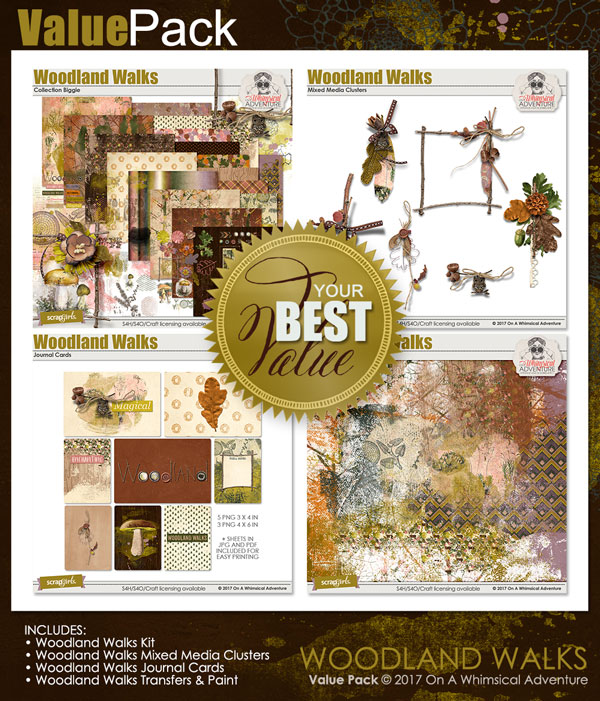 Value Pack: Woodland Walks by On A Whimsical Adventure
