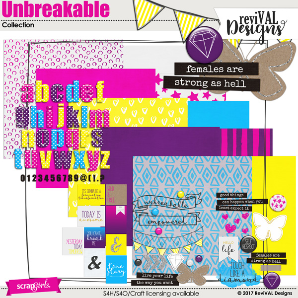 Unbreakable collection by ReviVAL Designs